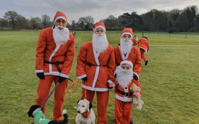 Our annual Santa run raising money for charity